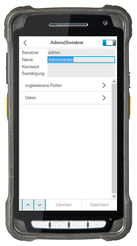 L-mobile Digitalisierte Lagerlogistik warehouse ready for NAV Basismodul Rollenverwaltung L-mobile Benutzer mobile Oberfläche