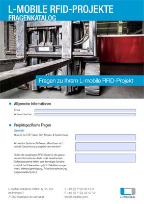 L-mobile mobile Softwarelösungen Fragenkatalog L-mobile RFID-Projekte