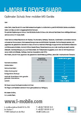 L-mobile mobile Softwarelösung Kundeninformationsblatt L-mobile device guard