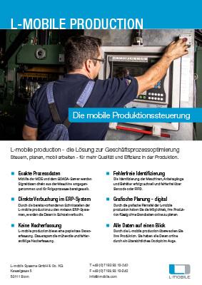 L-mobile mobile Softwarelösung Flyer L-mobile production