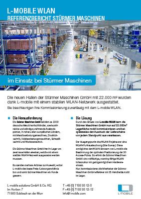 L-mobile mobile Softwarelösungen Referenzbericht L-mobile WLAN Stürmer Maschinen GmbH