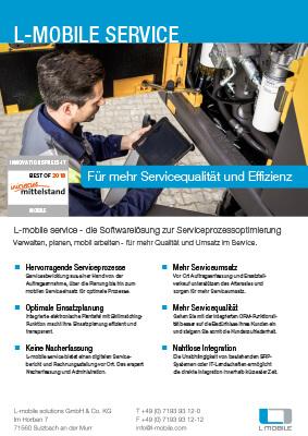 L-mobile mobile Softwarelösung Flyer L-mobile service