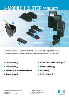 L-mobile mobile Softwarelösungen Flyer L-mobile Holster Preisliste