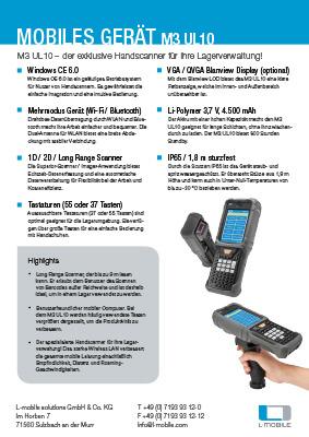 L-mobile mobile Softwarelösungen Flyer M3 UL10