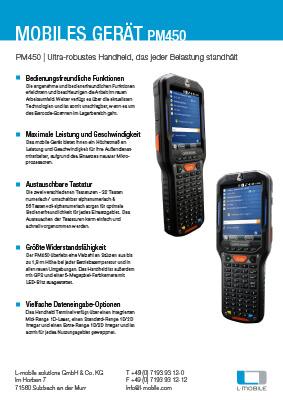 L-mobile mobile Softwarelösungen Flyer PM450