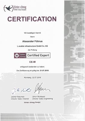 L-mobile mobile Softwarelösungen Zertifikat bintec elmeg Alexander Führus Certified Expert