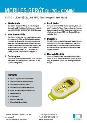 L-mobile mobile Softwarelösungen Flyer R1170I qIDmini