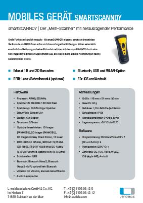 L-mobile mobile Softwarelösungen Flyer smartSCANNDY