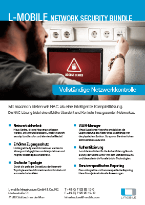 L-mobile mobile Softwarelösungen Flyer L-mobile network security bundle macmon NAC