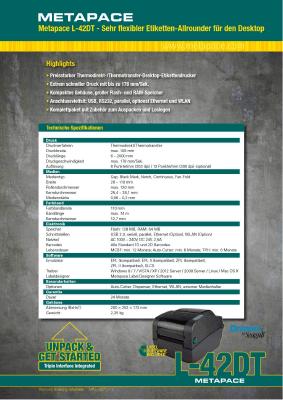 L-mobile mobile Softwarelösungen Flyer Metapace L-42DT
