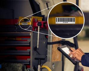 L-mobile Digitales Service Management Funktionen Auto-ID Technologien im After Sales Service Identifizierung von Ersatzteilen Maschinen 1D Barcode