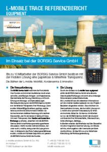 L-mobile mobile Softwarelösung Referenzbericht L-mobile trace equipment Borsig