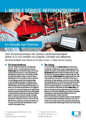 L-mobile mobile Softwarelösung Referenzbericht L-mobile service Grimme