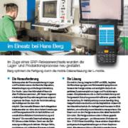 L-mobile mobile Softwarelösung Referenzbericht L-mobile warehouse / production Hans Berg
