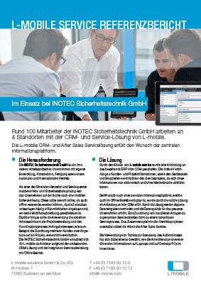 L-mobile mobile Softwarelösung Referenzbericht L-mobile service INOTEC Sicherheitstechnik GmbH