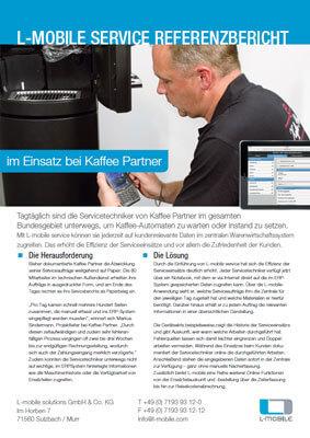 L-mobile mobile Softwarelösung Referenzbericht L-mobile service Kaffeepartner