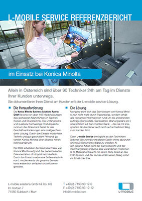 L-mobile mobile Softwarelösung Referenzbericht L-mobile service Konica Minolta