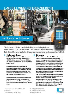 L-mobile mobile Softwarelösung Referenzbericht L-mobile WMS Luhmann