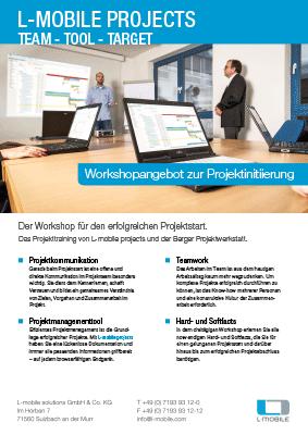 L-mobile mobile Softwarelösung Flyer L-mobile projects Workshop für den erfolgreichen Projektstart