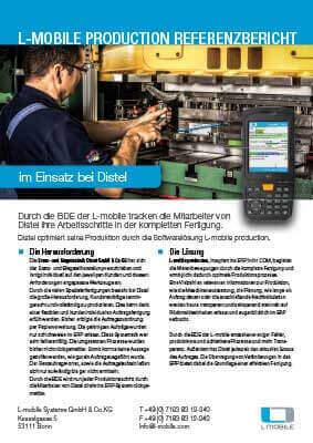 L-mobile mobile Softwarelösung Referenzbericht L-mobile production Stanz- und Biegetechnik Distel GmbH & Co KG