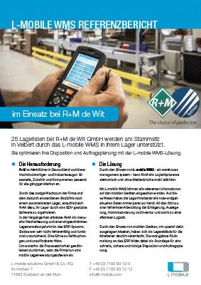 L-mobile mobile Softwarelösung Referenzbericht L-mobile WMS R+M de Wit