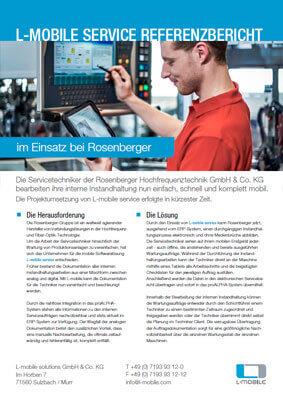 L-mobile mobile Softwarelösung Referenzbericht L-mobile service Rosenberger Hochfrequenztechnik GmbH & Co. KG