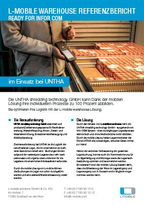 L-mobile mobile Softwarelösung Referenzbericht L-mobile warehouse ready for Infor COM UNTHA