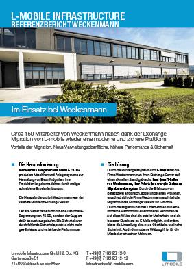 L-mobile mobile Softwarelösungen Referenzbericht L-mobile infrastructure Weckenmann