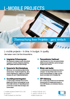 L-mobile mobile Softwarelösung Flyer L-mobile projects