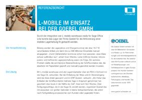 L-mobile mobile Softwarelösung Referenzbericht L-mobile warehouse ready for sage OL Evo Goebel