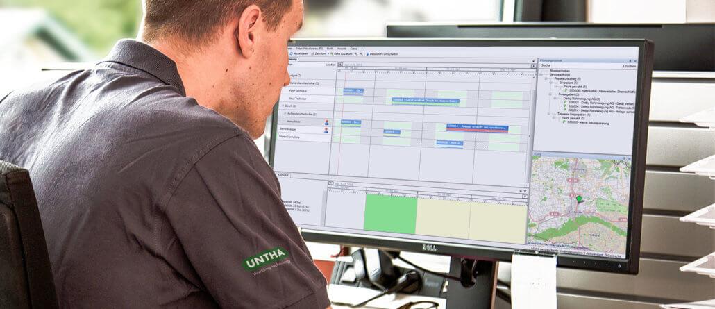 L-mobile Digitales Service Management Funktionen Grafische Personaleinsatzplanung techniker einsatzplanung software