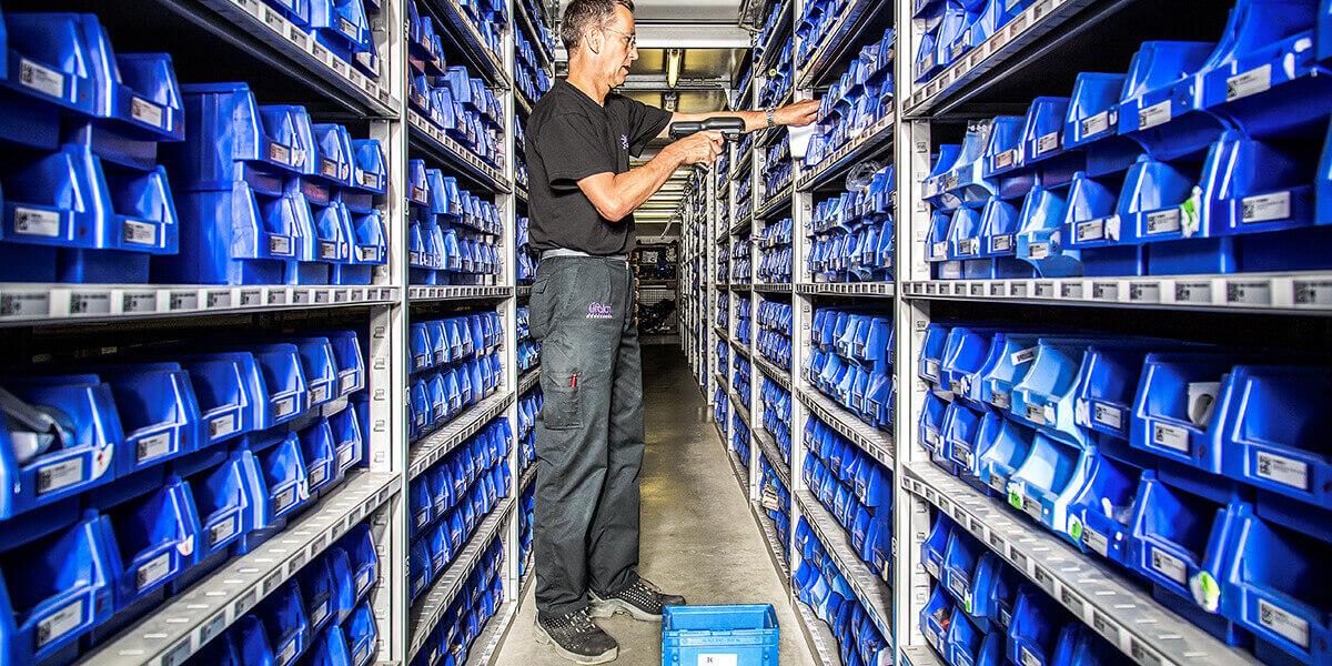 L-mobile Digitalisierte Lagerlogistik warehouse ready for ALPHAPLAN Anwendungsmodul Kommissionierung Kundenaufträge