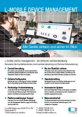 L-mobile mobile Softwarelösung Flyer L-mobile device management