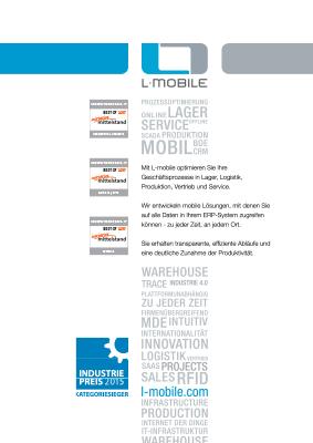 L-mobile mobile Softwarelösung Broschüre Portrait L-mobile