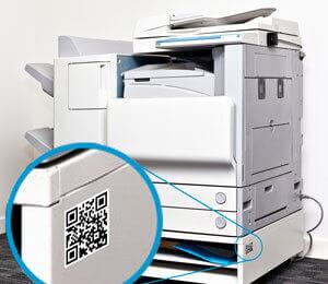 L-mobile Digitales Service Management Funktionen Auto-ID Technologien im After Sales Service Identifizierung von Ersatzteilen Maschinen 2D Barcode