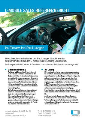 L-mobile mobile Softwarelösung Referenzbericht L-mobile sales Paul Jaeger