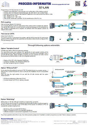 L-mobile mobile Softwarelösungen Flyer Siemens S7-LAN