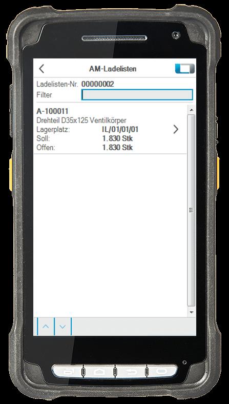 L-mobile Digitalisierte Lagerlogistik L-mobile ready for Infor COM Erweiterungsmodul AM Ladelisten mobile Oberfläche