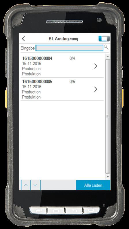 L-mobile Digitalisierte Lagerlogistik L-mobile ready for Infor COM Erweiterungsmodul BL Auslagerung mobile Oberfläche