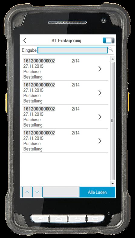 L-mobile Digitalisierte Lagerlogistik L-mobile ready for Infor COM Erweiterungsmodul BL Einlagerung mobile Oberfläche