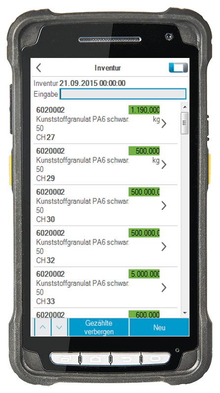 L-mobile digitalizált raktárlogisztika L-mobile ready for proALPHA kiegészítő modul Leltár mobil felület