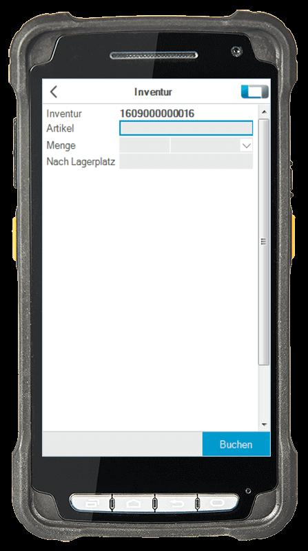 L-mobile Digitalisierte Lagerlogistik L-mobile WMS Funktionsübersicht Inventur mobile Oberfläche
