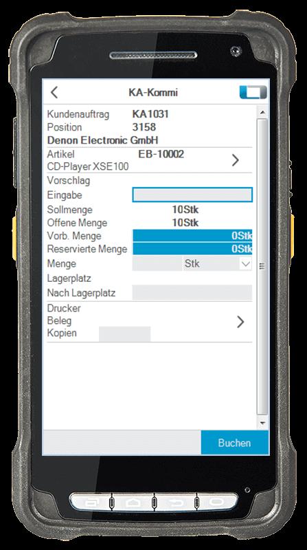 L-mobile Digitalisierte Lagerlogistik warehouse ready for SAP Erweiterungsmodul Kommissionierung Lieferung mobile Oberfläche