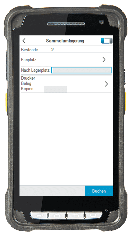 L-mobile Digitalisierte Lagerlogistik L-mobile ready for Infor COM Basismodul Sammelumlagerung mobile Oberfläche