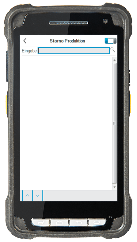 L-mobile Digitalisierte Lagerlogistik L-mobile ready for Infor COM Erweiterungsmodul Storno Entnahme Produktion mobile Oberfläche