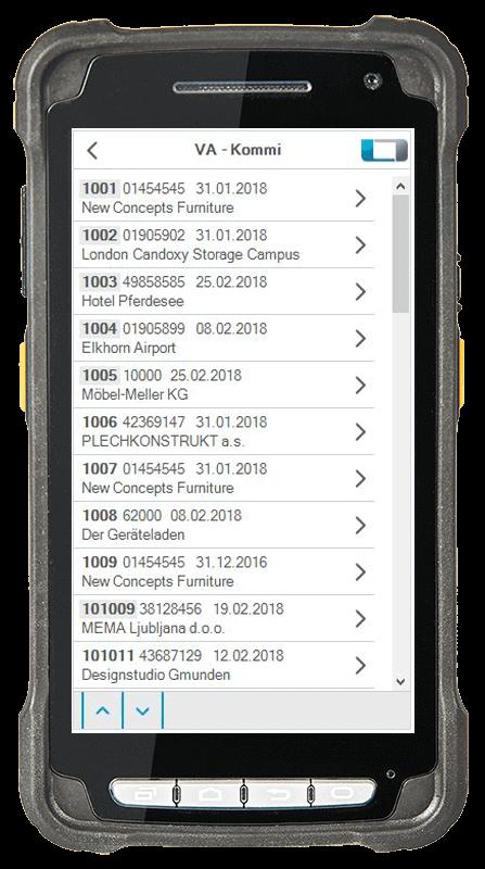 L-mobile Digitalisierte Lagerlogistik warehouse ready for AX Erweiterungsmodul Kommissionierung Kundenaufträge/Versand mobile Oberfläche