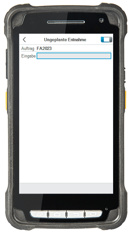 L-mobile Digitalisierte Lagerlogistik L-mobile ready for Infor COM Basismodul Ungeplante Entnahme mobile Oberfläche