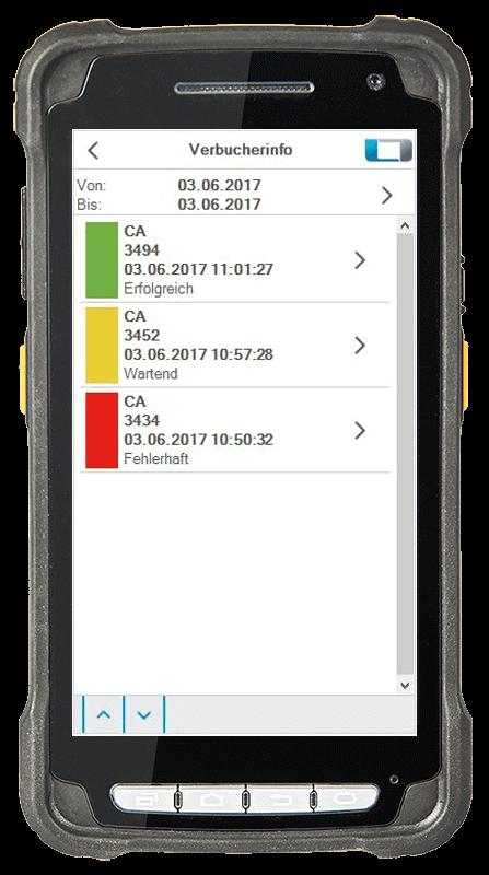 L-mobile Digitalisierte Lagerlogistik warehouse ready for AX Basismodul Buchungsjournal mobile Oberfläche