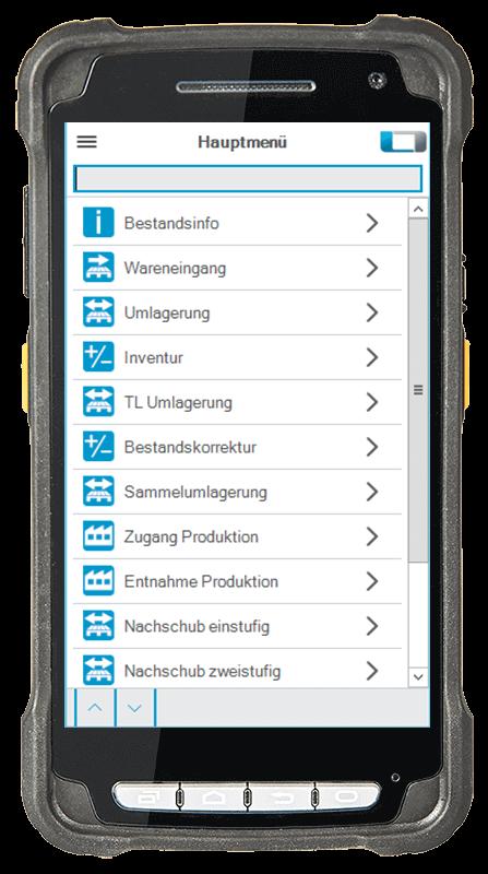 L-mobile Digitalisierte Lagerlogistik warehouse ready for ALPHAPLAN Anwendungsfunktion mobile Oberfläche