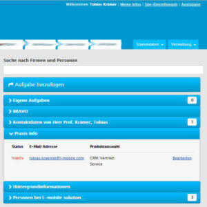 L-mobile Mobiler Vertrieb Infothekbeitrag L-mobile CRM bietet Schnittstelle zu CleverReach 1